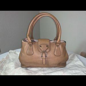 Authentic Burberry nova check trim satchel tote